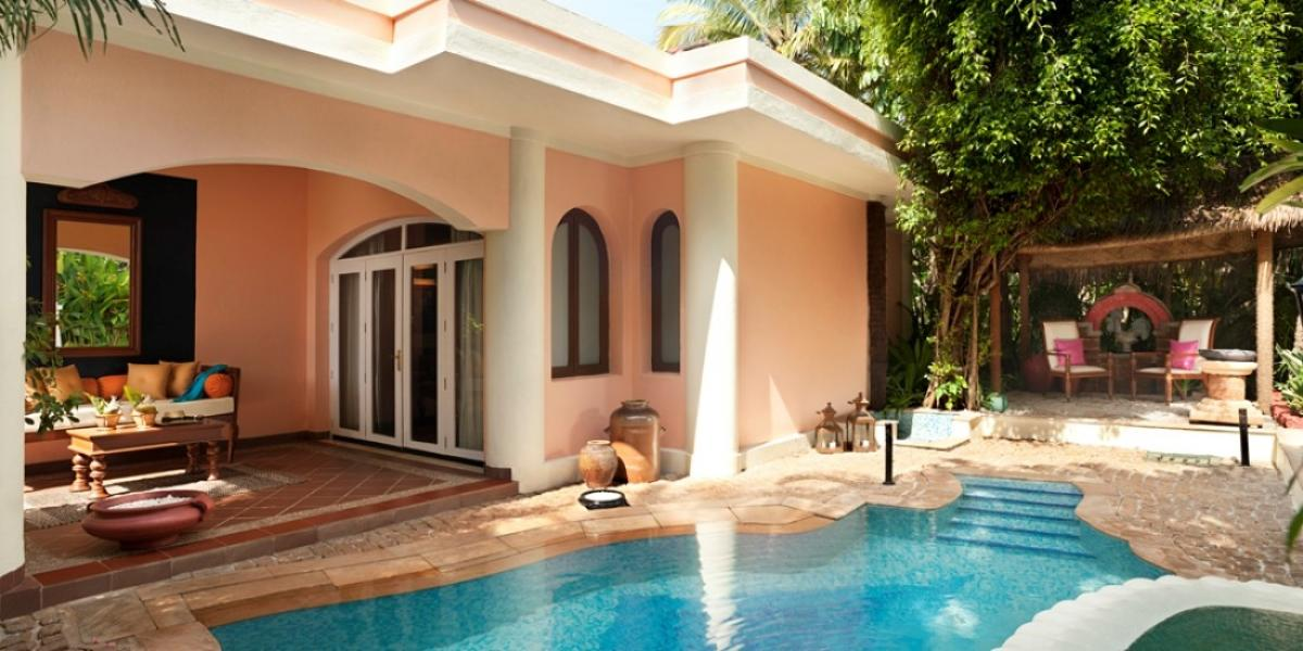 Villa with pool at Taj Exotica Goa.