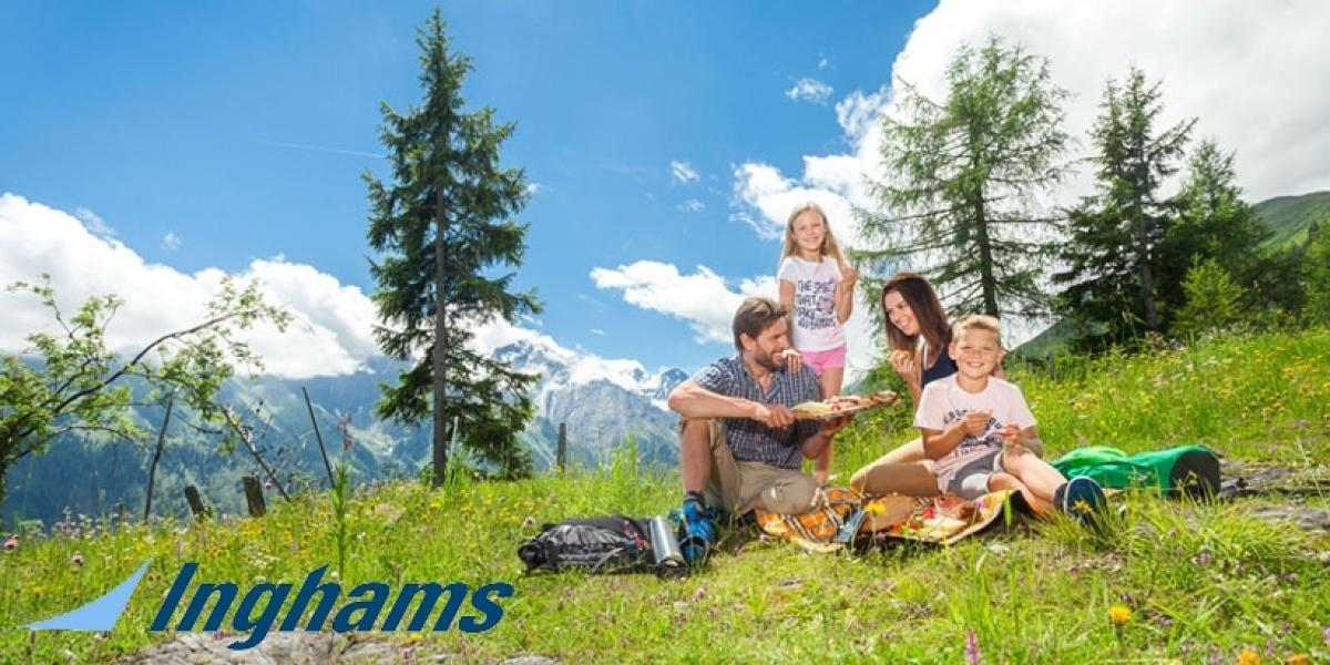 Inghams lakes, mountains and ski holidays for families.