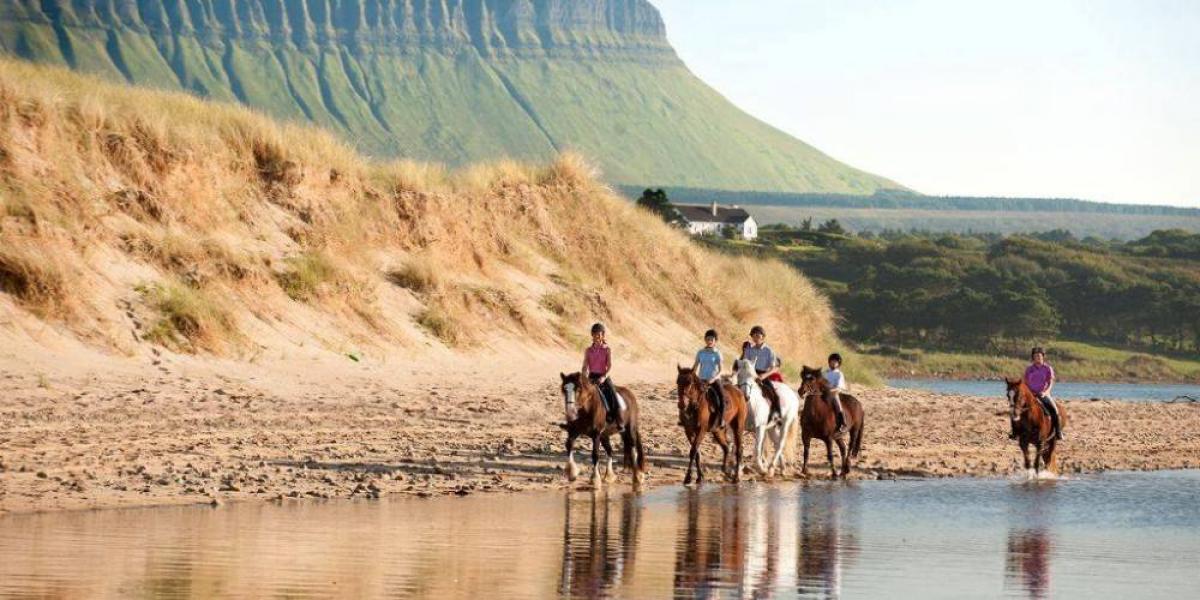 Horse-riding on the Wild Atlantic Way.