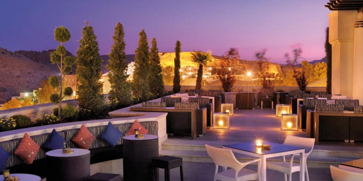 The rooftop bar at the Mövenpick
