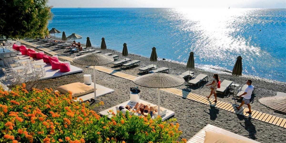 A Kos beach.