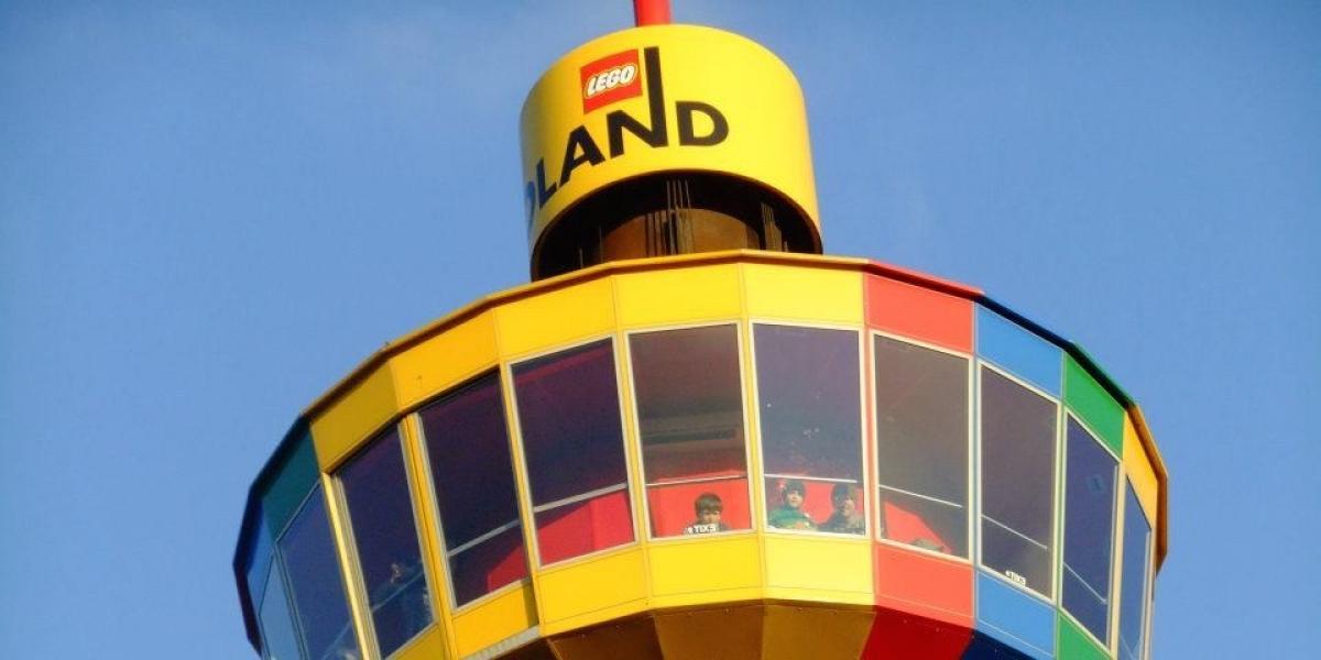 The revolving tower at LEGOLAND Denmark.