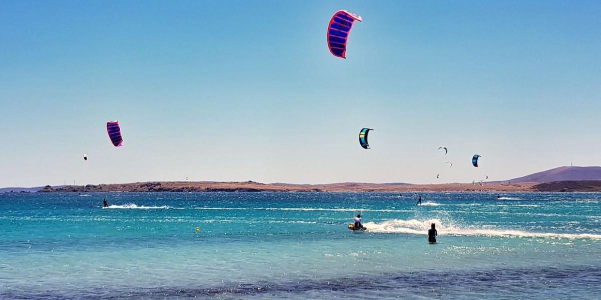 Kite-surfing off Lemnos.
