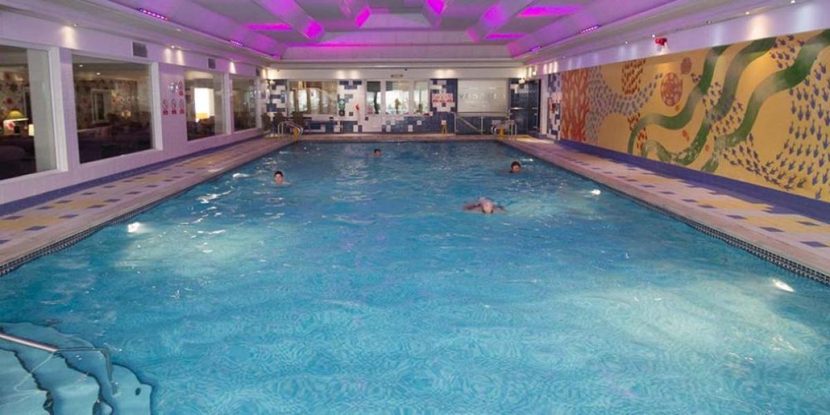 Indoor pool at Dalmeny Hotel.