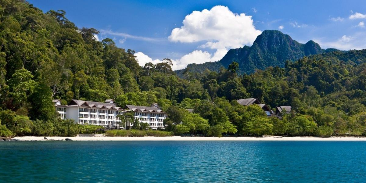 View from the sea of The Andaman, a Luxury Collection Resort.