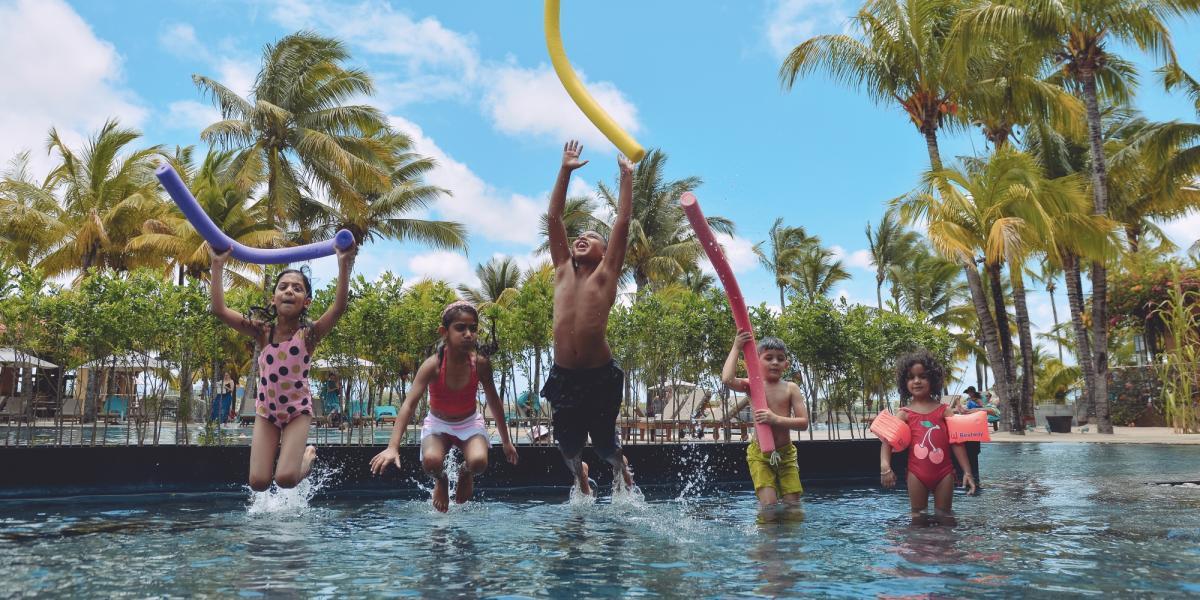 Kids' club fun at Mauricia Beachcomber.