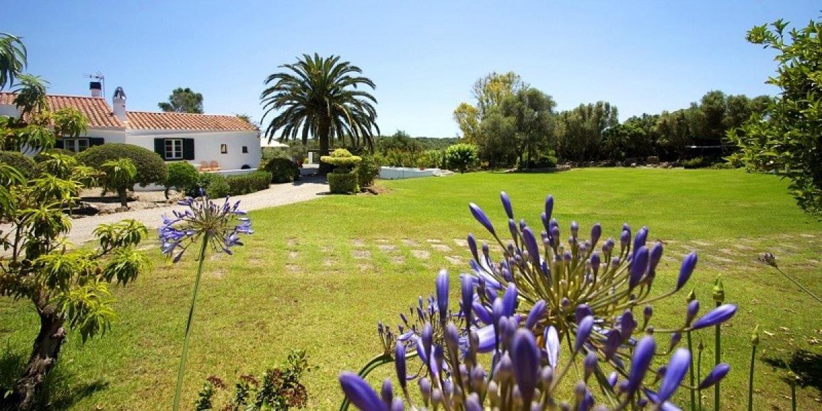 Fabulous gardens at Villa Las Rocas, Menorca.