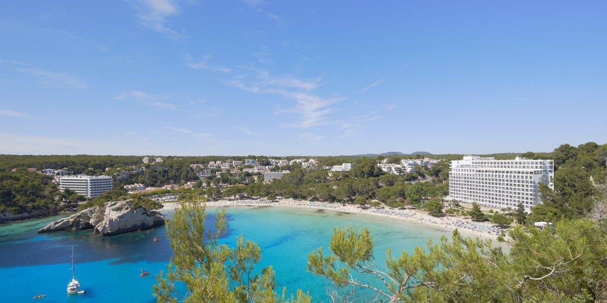 View of Meliá Cala Galdana and the beach.