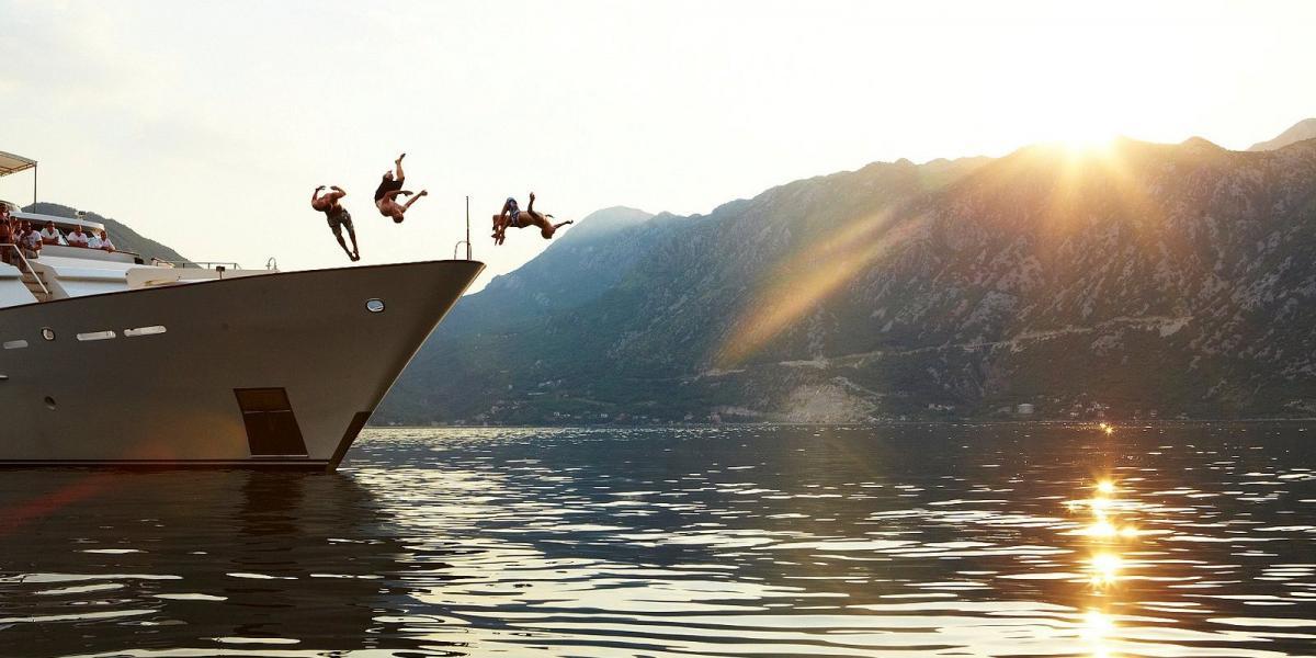 Fun at sea in Montenegro.