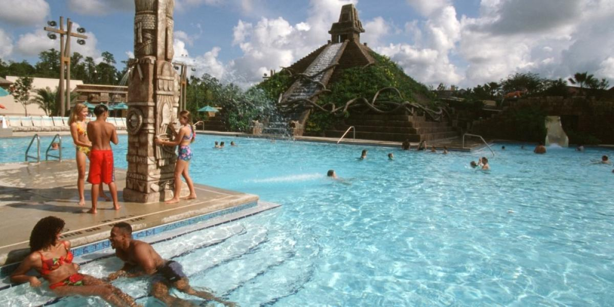 Themed pool complex at Disney's Coronado Springs.