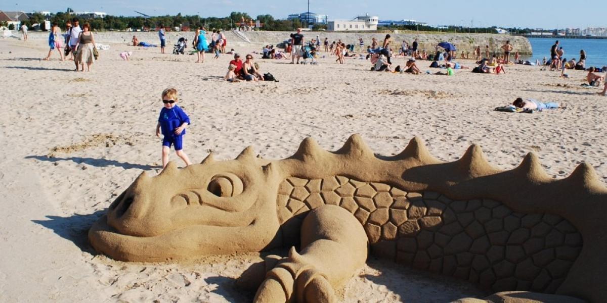 On the beach in La Rochelle