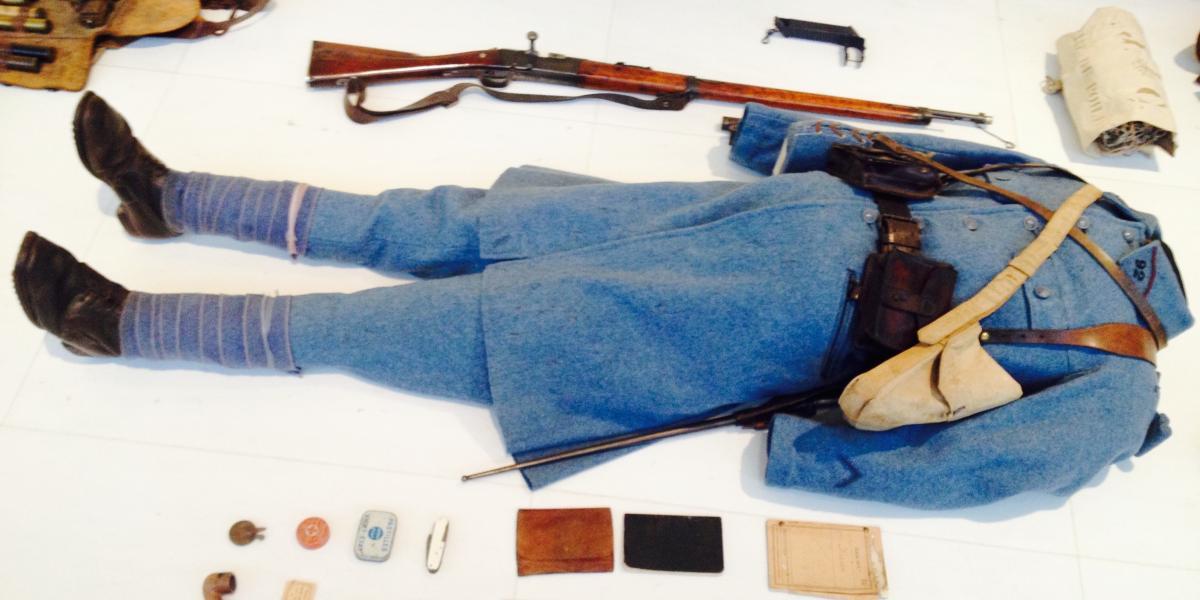 A display at the Historial de la Grande Guerre