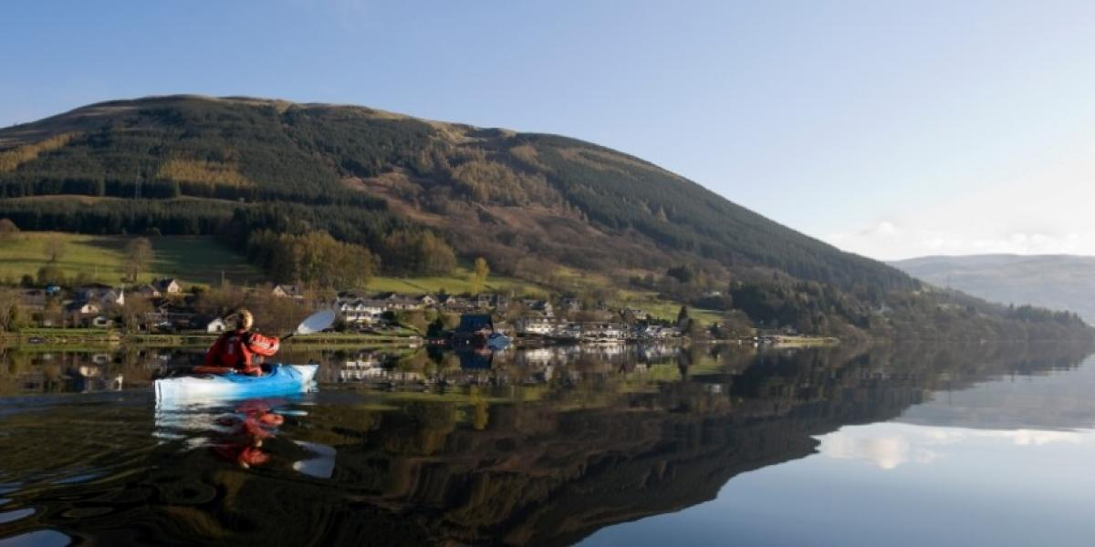 Kayaking on a loch