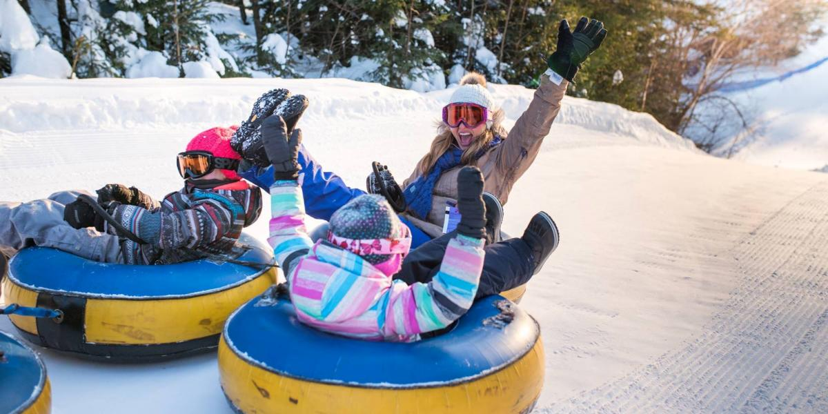 Snow fun at Village Vacances Valcartier.