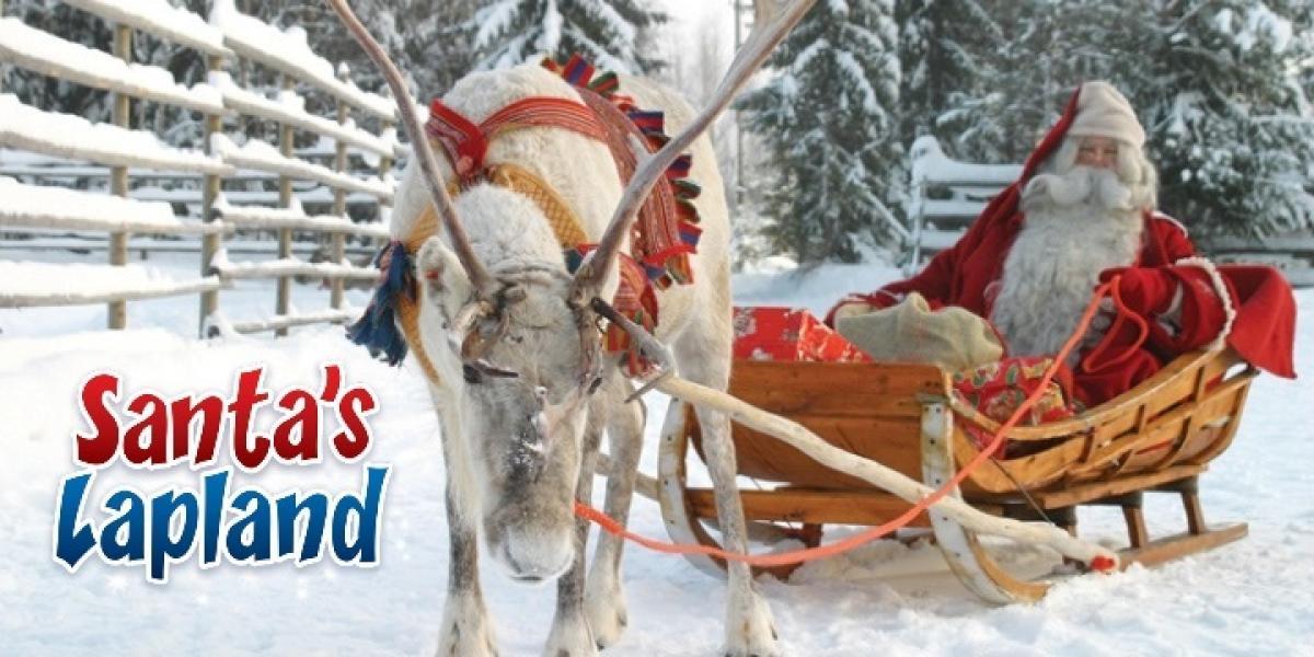 Meet Santa in his home with Santa's Lapland.