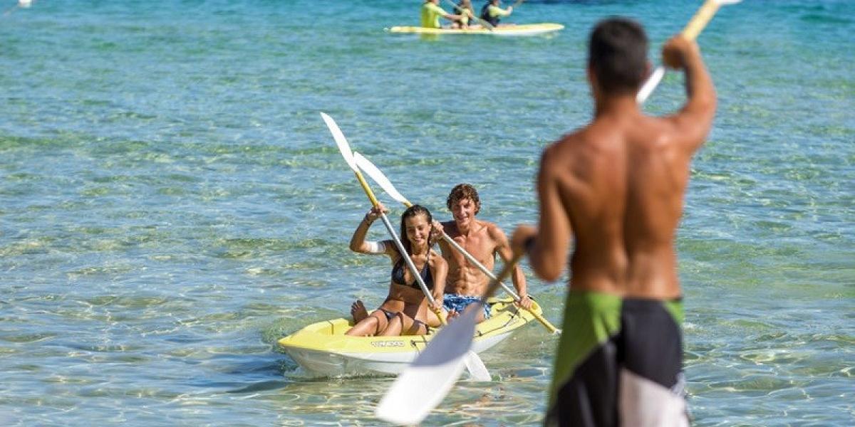 Water sports at Chia Laguna Resort.