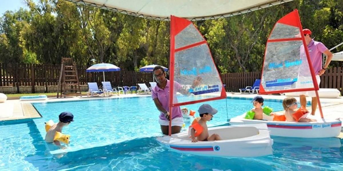Kids club fun for the little ones at Club Med Kamarina.
