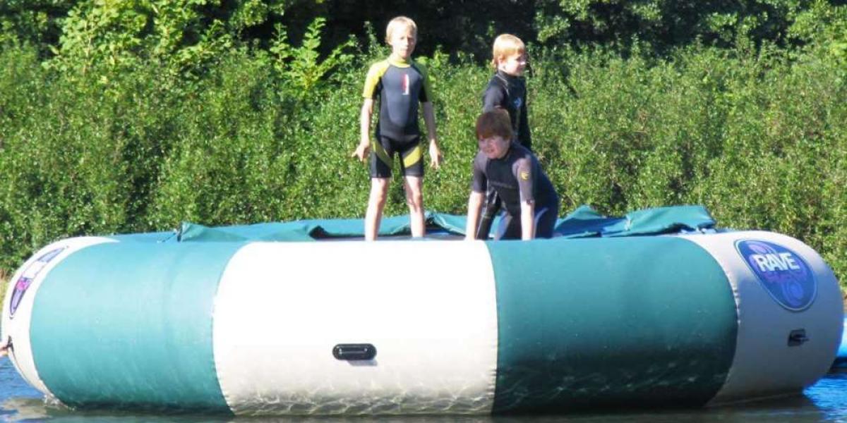 Water trampoline at Upper Shadymoor Farm.