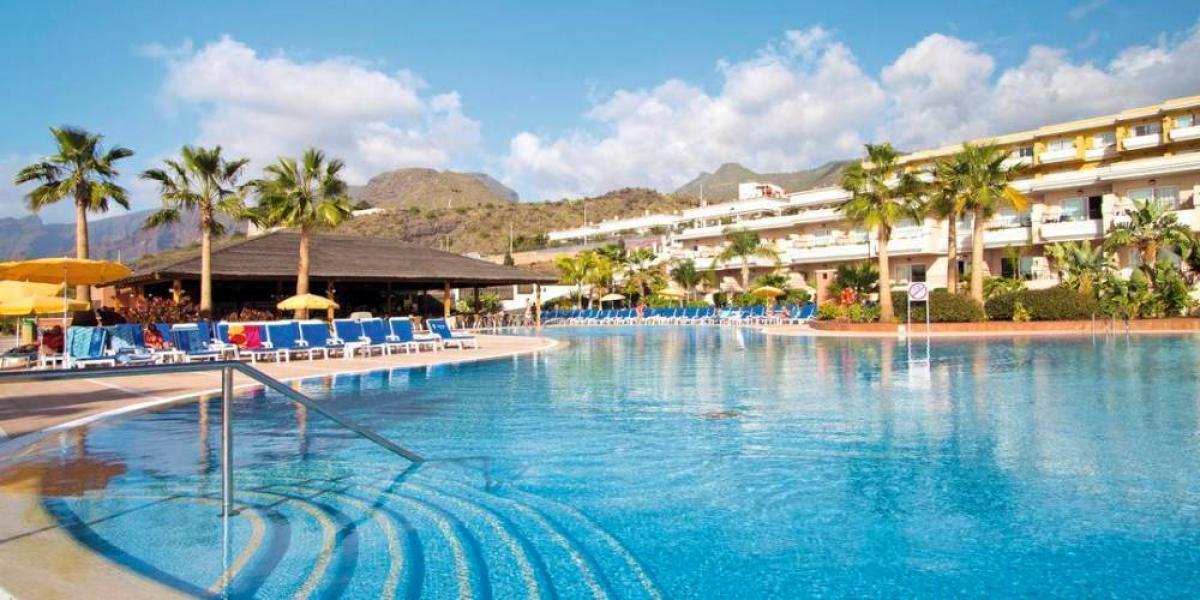 Main pool at Holiday Village Tenerife.