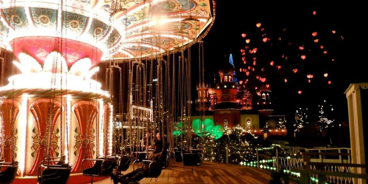 The Tivoli Gardens at Christmas.