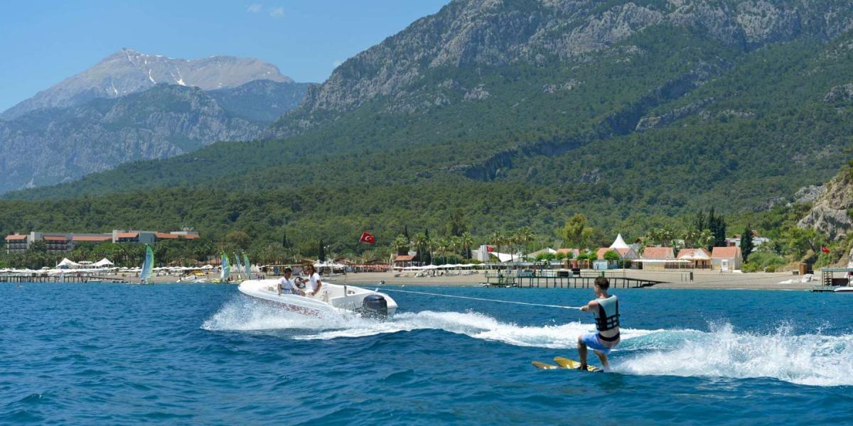 Waterskiing at Club Med Palmiye.