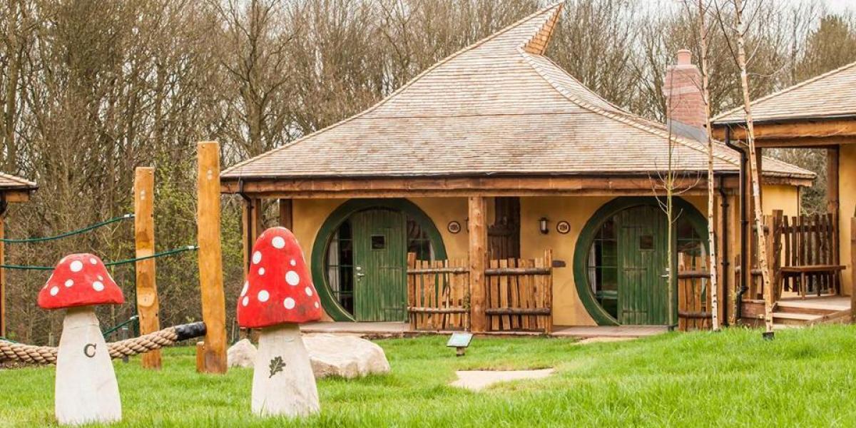 A lodge at the Enchanted Village.