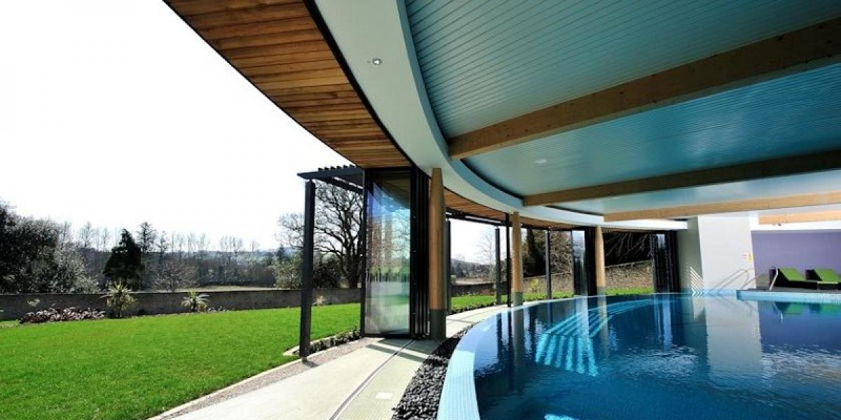 Pool with a view at The Cornwall Hotel (available for Woodland guests to use).