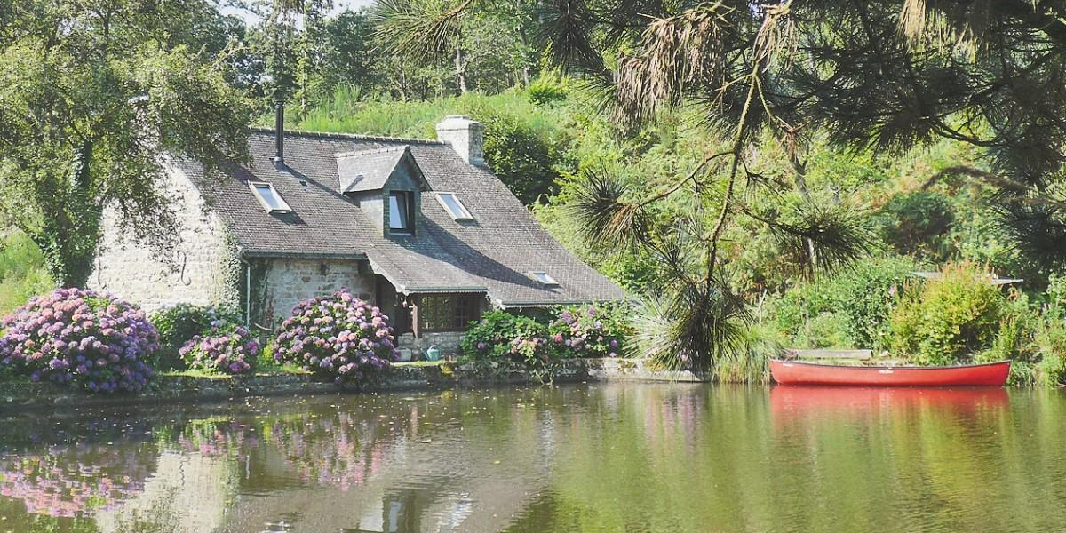 One of the many family-friendly cottages in Brittany.