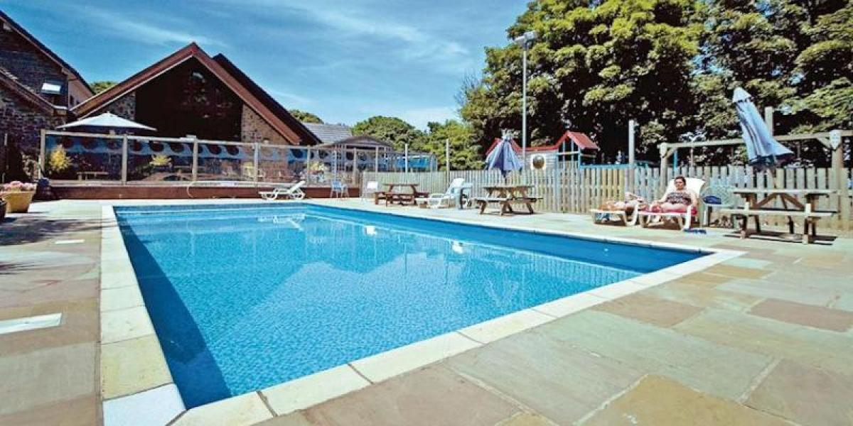 Pool at Watermouth Lodges.