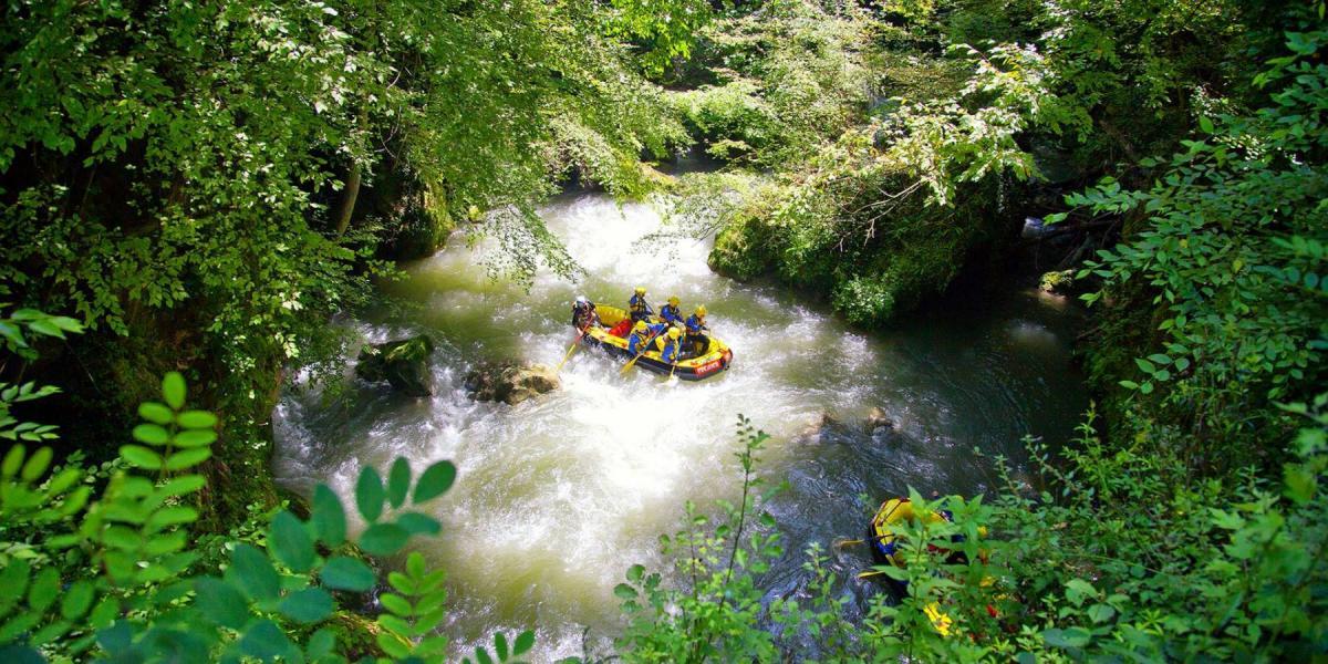 River-rafting in Umbria.