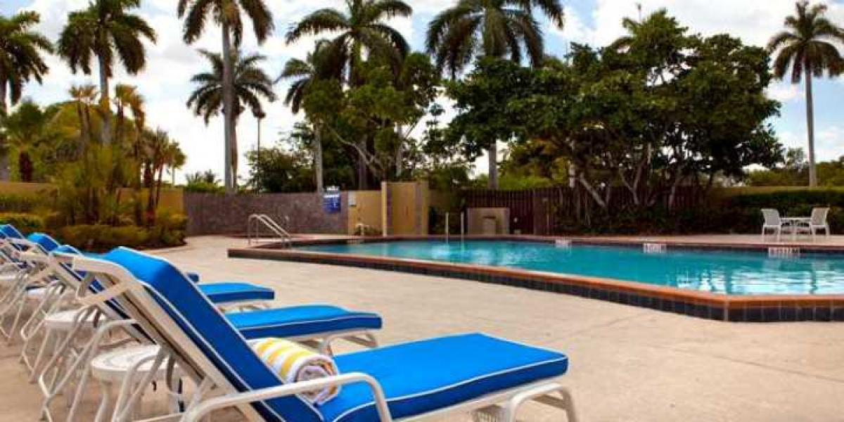 The pool at the DoubleTree by Hilton Miami Airport and Convention Center.