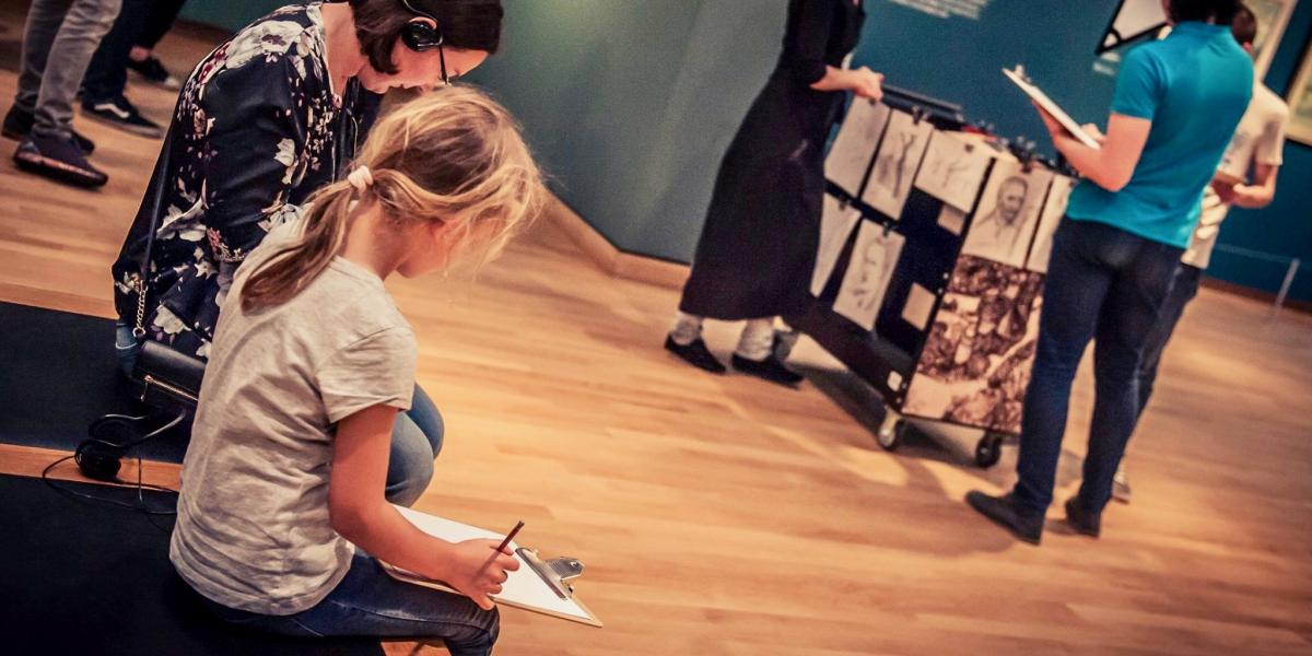 A child at the Van Gogh Museum, Amsterdam.