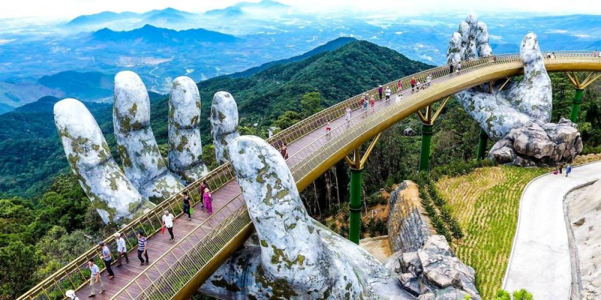 Bridge at Sun World Ba Na Hills.