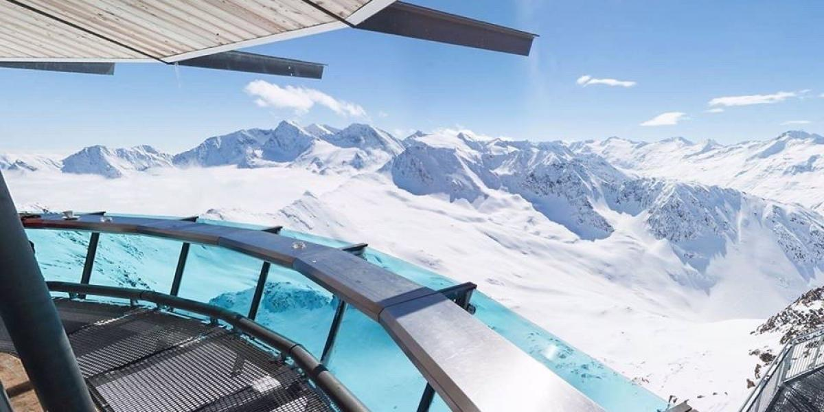 Viewing platform in Obergurgl,