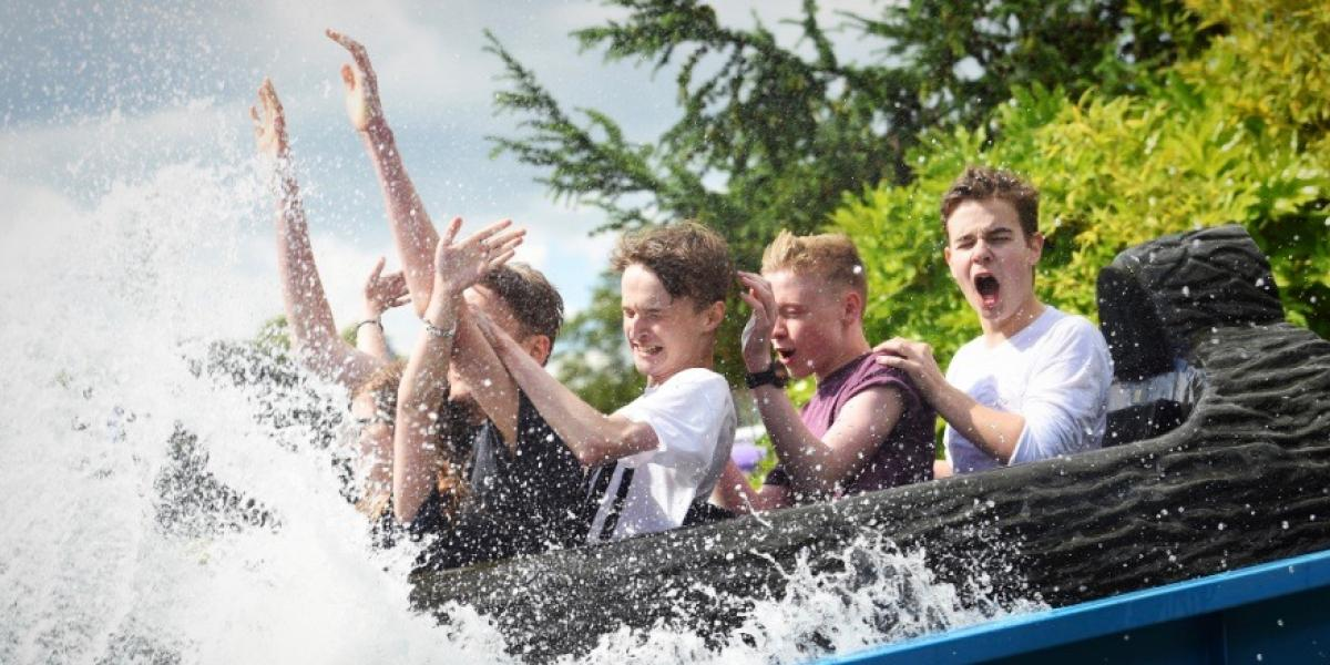 The log flume at Wicksteed Park.