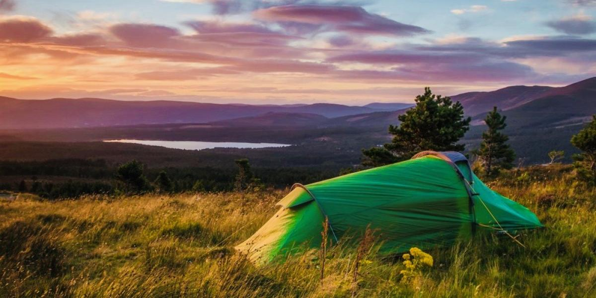 Wild camping in Scotland.