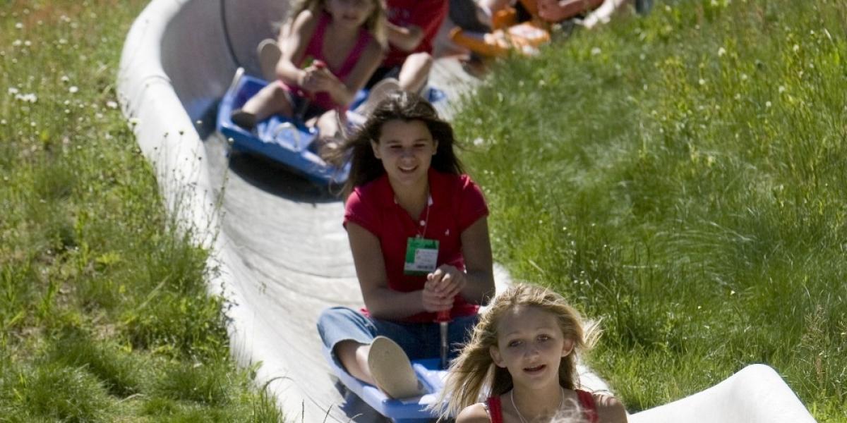 A summer alpine slide